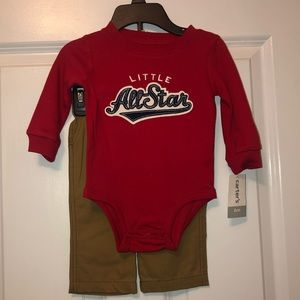 Carter's infant boy 2-piece pants set Baseball